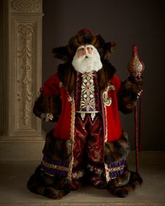 "33"" Saint Nicolaus Santa by Katherine's Collection at Neiman Marcus."