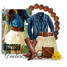 """""""Cowgirl Chic with The Leakey Collection"""" by archimedes16 on Polyvore"""