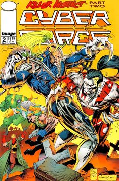 RipClaw from Cyber force and Warblade from WildC. Marvel Comic Books, Marvel Dc Comics, Marvel Characters, Comic Books Art, Marvel Heroes, Jim Lee, Book Cover Art, Comic Book Covers, Comic Book Artists