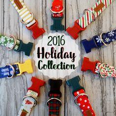 PJP Holiday/Winter/Christmas 2016 Collection. Modern Dog Collars