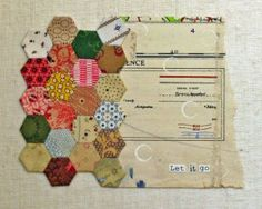 nice way to merge fabric and collage!