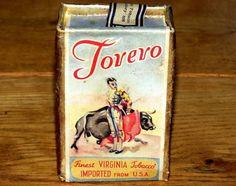 Torero-Torero-Bol-lucha-tabaco-Pack-N-Lata-Sin-Abrir-1930