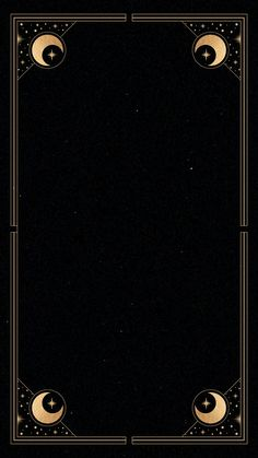 Download premium vector of Mystical gold frame on black background mobile phone wallpaper by Tang about mystical, moon, framework, night, and Mystical background 1224048