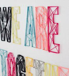 La modista   Ventas en Westwing String Art Letters, Diy Craft Projects, Diy Crafts, Digital Image, Homemade, Interior, Outdoor Decor, Mayo, Ideas