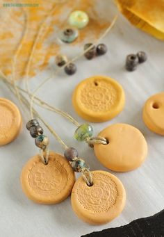 DIY Clay Essential Oil Diffuser Necklace