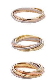 cartier trinity Cartier Jewelry, Jewelery, Jewelry Watches, Cartier Wedding Rings, Wedding Jewelry, Classic Wedding Rings, Jewelry Accessories, Jewelry Design, Gold Ring Designs