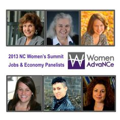 NC Women's Summit - Jobs & Economy Panelists: Dr. Jacquelyn Hall, Dr. Rachel Willis, Beth Messersmith, Alexandra Sirota, Brittany Chavez, and Joey Fink.