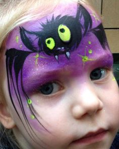 Lynn Fraser Bat Face Painting Design                                                                                                                                                                                 More