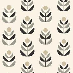 Oslo Black Geometric Tulip Wallpaper