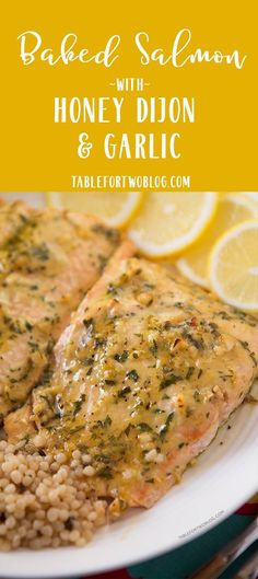This Baked Salmon with Honey Dijon and Garlic won me a trip to Paris! Imagine what this will do on your dinner table if you made it! #salmondinner #salmonrecipe #honeydijonsalmon #garlic #seafooddinner