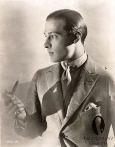 Rudolph Valentino with Slick Back Pomade Hair Style