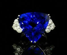 M. CHRISTOFF SIGNED NATURAL 22.22ctw TANZANITE & DIAMOND 14K WHITE GOLD RING  | eBay Gold Diamond Rings, Sapphire Diamond, White Gold Rings, White Gold Diamonds, Blue Sapphire, Crown Jewels, Gemstones, Natural, Ebay