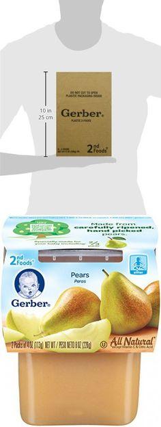 gerber 2nd foods pears 4 oz tubs 2 count pack of 8