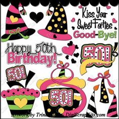 Happy 50th Birthday 1 Clip Art: http://digiscrapkits.com/digiscraps/index.php?main_page=product_info&cPath=892&products_id=8314 #TrinaClark #DigiScrapKIts