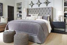 Black Queen Bed Headboard Set Tufted Faux Leather Modern Bedroom Furniture SALE: End Date: Trendy Bedroom, Bedroom Sets, Bedding Sets, Bedding Storage, Bedroom Modern, Blue Bedding, Comforter Set, Contemporary Bedroom, Modern Contemporary