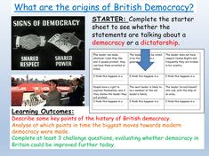 British Values: History of Democracy History Of Democracy, Citizenship Lessons, British Values, Differentiation, Teaching Resources, Worksheets, Relationship, Activities, Education