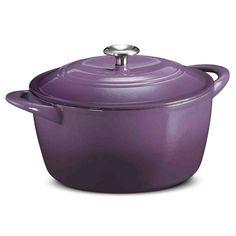 Tramontina Cast Iron Covered Dutch Oven 6.5 Qt.,  Purple #Tramontina