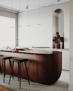 Décor do dia: cozinha minimalista com ilha impactante
