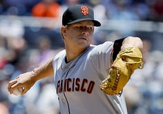 Game 57/162, 6/7/2012; Giants starting pitcher Matt Cain works in the first inning against the Padres.