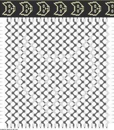 Friendship bracelet - pattern 5954 28 strings 2 colours - black cat