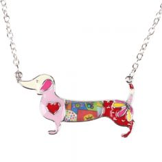 Dachshund Dog Choker Necklace Chain Collar Pendant 2016 Fashion New Jewelry For Women. Fine or Fashion:FashionItem Type:NecklacesPendant Size:38mmx40mmStyle:TrendyNecklace Type:Chains NecklacesGender:WomenMaterial:Zinc AlloyChain Type:Link ChainLength:52cmMetals Type:Zinc AlloyShape\pattern:AnimalModel Number:AP247Brand Name:Bonsnystyle:DachshundUnit Type:piecePackage Weight:0.100kg (0.22lb.)Package Size:10cm x 10cm x 10cm (3.94in x 3.94in x 3.94in)