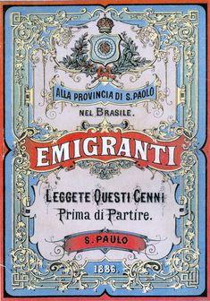 Manifesto Emigrazione San Paolo Brasile - Emigrazione italiana - Wikipedia