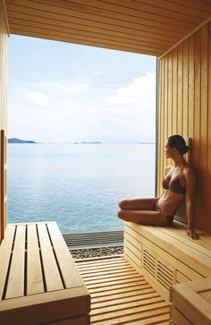 The Spa — Luxuriate in rain showers and saunas that feature unrivaled views of the Gulf of Thailand, enjoy innovative and balanced spa cuisine or just lie back, breathe deep and let go in the tranquil relaxation zone #conradkohsamui