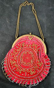 Antique Made in France Victorian Beaded Purse