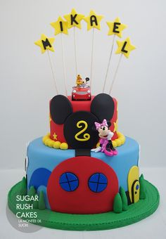 Simple Mickey Mouse Clubhouse Cake