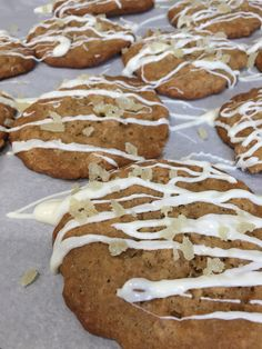 Ginger Oatmeal Cookies with White Chocolate drizzle (A Seat at the Table)