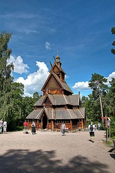 Gol stave church by Geir B Nystad, via Flickr/ dated(1212) Moved to OSLO, Norwegian Museum of Cultural History