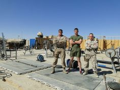 For Staff Sgt. Canon Richard and the other Marines of Georgian Liaison Team 11, it was a question of accessibility when it came to a gym. So they built their own. (JENNIFER HLAD/STARS AND STRIPES) #Afghanistan #soldier
