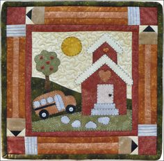 S14 September Schoolhouse- Little Quilts Squared fusible applique monthly series