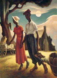 Romance by Thomas Hart Benton (1932) - American Painter