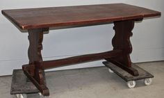 Vintage Rustic Trestle Table | Antique Dining Tables | Inessa Stewart's Antiques