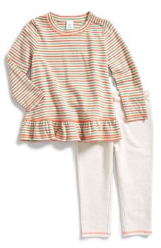 Stem Baby Organic Cotton Stripe Tunic & Leggings (Baby Girls) available at #Nordstrom