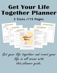 Life Reset Planner Get your life together printable planner Routine Printable, Printable Planner, Printables, Free Printable, Life Savers, Self Development, Personal Development, Deeper Life, Get My Life Together