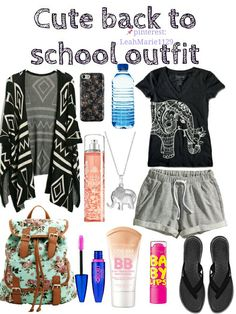 Cute back to school outfit perfect for middle and high schoolers. #backtoschool #school #outfit #cute #schooloutfit #comfyoutift #cuteoutfit #makeup #clothes