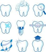 Dentales iconos vectoriales — Vector de stock #29329947