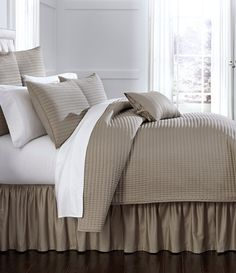 Villa by Noble sateen quilt in Latte, from Dillards.