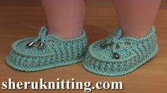 Crochet Booties For Babies Tutorial 59 Part 2 of 2