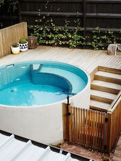 Discover 27 small backyard pool ideas for your inspiration. These small inground and above ground swimming pools will transform your backyard into an outdoor oasis. Small Swimming Pools, Small Backyard Pools, Backyard Pool Designs, Small Pools, Swimming Pools Backyard, Swimming Pool Designs, Garden Pool, Backyard Ideas, Backyard Beach