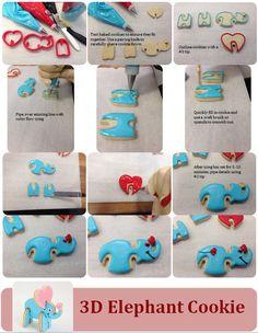 Valentine Cookie Cutter Kit Tutorial  Cute Elephant!