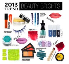 """""""2013 Trend   Beauty Brights"""" by beautylish ❤ liked on Polyvore featuring beauty, Anna Sui, Sugarpill, Armour, Smashbox, Too Faced Cosmetics and beautylish beauty trend spring 2013"""