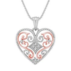 Valentines day Solid 925 Sterling silver Beautiful Design Heart Pendant Chain cz #NIKI #Chain