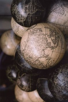 ∷ Variations on a Theme ∷ Collection of old globes