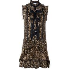Zuhair Murad leopard print dress (52,300 THB) ❤ liked on Polyvore featuring dresses, zuhair murad, black, zuhair murad dresses, leopard dresses and leopard print dress