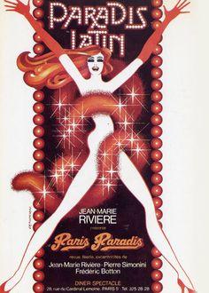 Paris Paradis! par Jean-Marie Fonteneau 1977. #paradislatin #cabaret #Paris