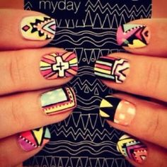 Tribal is always fun #SocialblissStyle #Fashion #Nailart