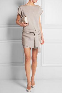 Mini-robe en mailles stretch enduites